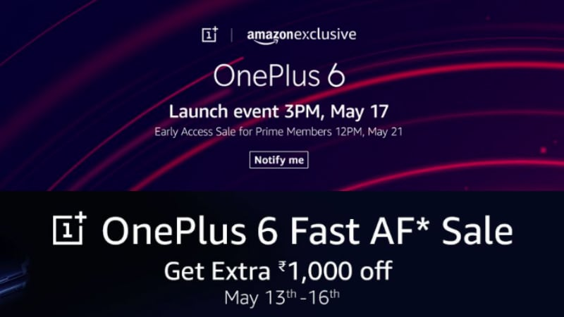 OnePlus 6 Pre-Orders on Amazon India Will Get You Extended Warranty and Other Benefits