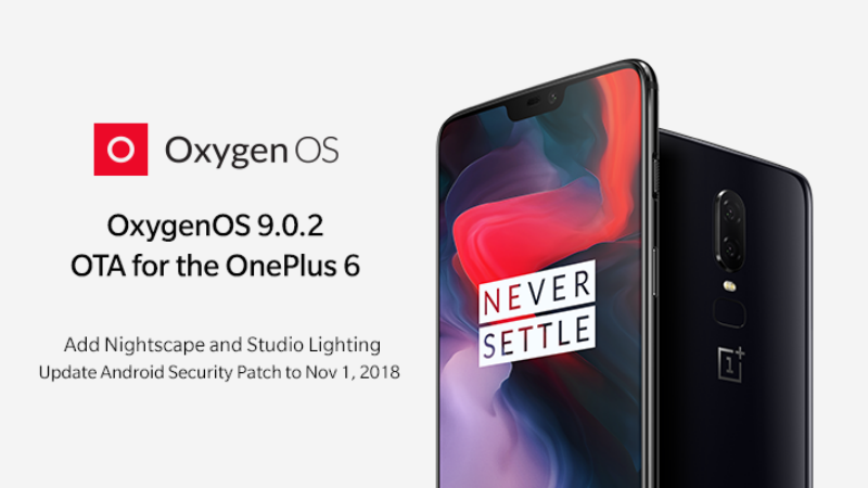 OnePlus 6 Starts Receiving OxygenOS 9.0.2 With Nightscape Mode, Studio Lighting Feature
