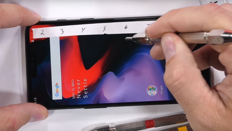 OnePlus 6 Seen Passing Bend, Burn, and Scratch Tests Following Its Debut