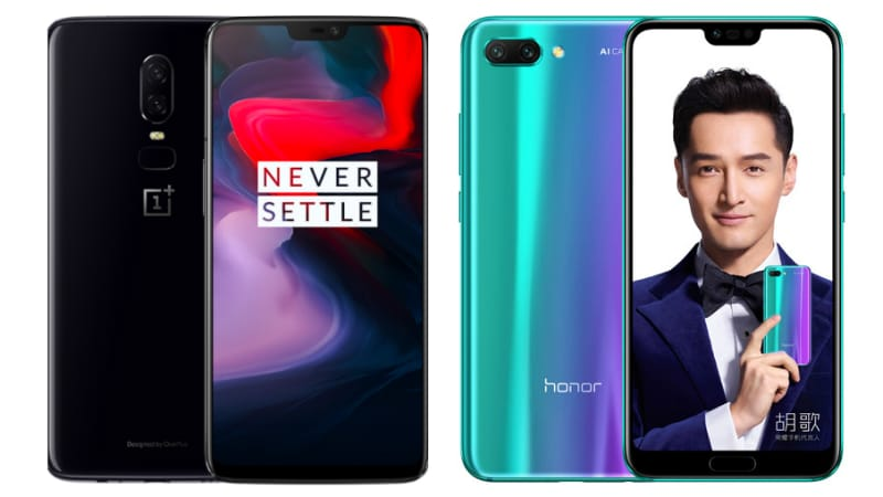 OnePlus 6 vs Honor 10: Price in India, Specifications, Features Compared