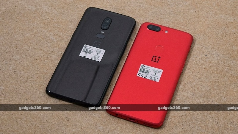 oneplus 6 vs oneplus 5t side gadgets 360 oneplus