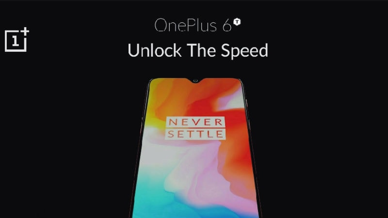OnePlus 6T Leaked 'Official Poster' Shows Waterdrop Notch, New Tagline
