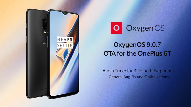 OnePlus 6T Now Receiving OxygenOS 9.0.7 Update With Fixes, Improvements