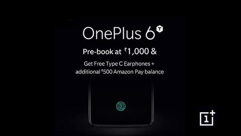 OnePlus 6T India Pre-Bookings Now Open via Amazon, Freebies Revealed