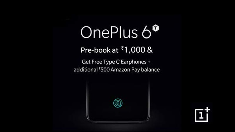 OnePlus 6T India Pre-Bookings Now Open via Amazon, Freebies Revealed