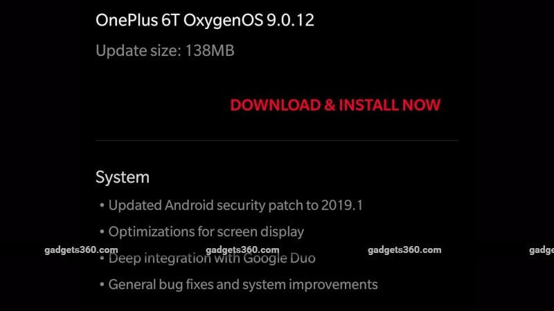oneplus 6t update notification main OnePlus 6T update