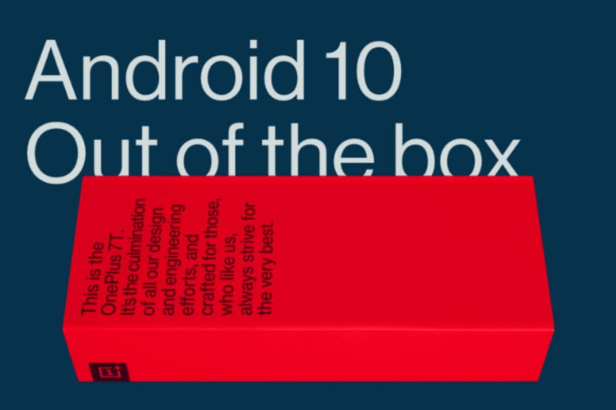 OnePlus 7T आउट ऑफ बॉक्स चलेगा एंड्रॉयड 10 पर