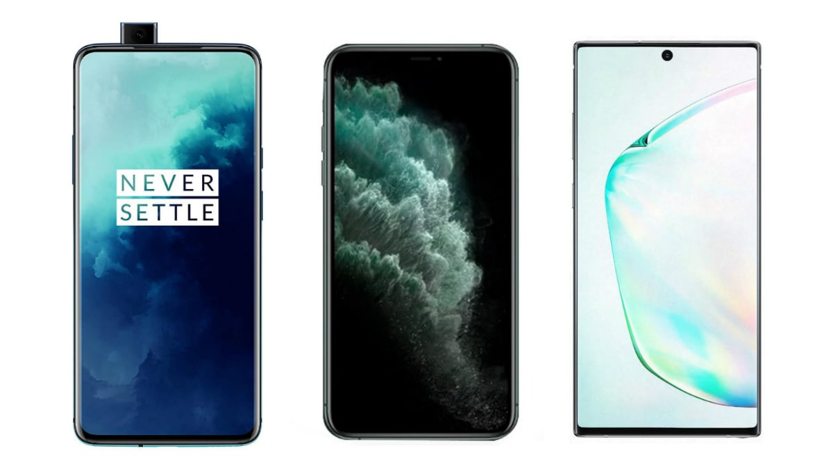 OnePlus 7T Pro vs iPhone 11 Pro Max vs Samsung Galaxy Note 10+: Price in India, Specifications Compared