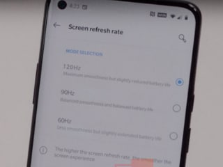 OnePlus 8 Pro Alleged Hands-on Photo Shows 120Hz Refresh Rate Option in Settings
