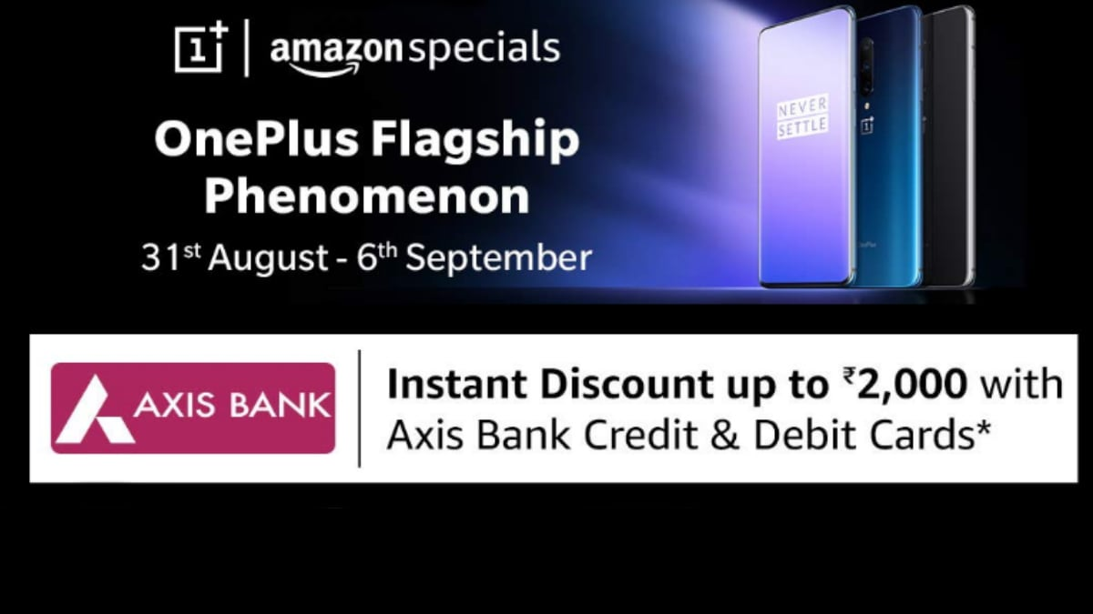 OnePlus 7, OnePlus 7 Pro Get Up to Rs. 2,000 Instant Discount Until September 6 in OnePlus Flagship Phenomenon Sale