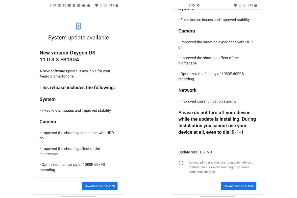 oneplus nord ce 5g oxygenos 11 0 3 3 update screenshots gadgets 360 OnePlus Nord CE 5G