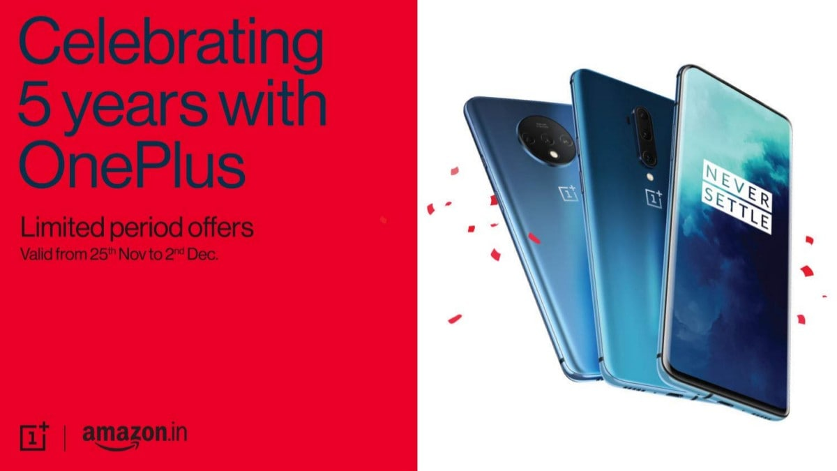 OnePlus 7 Pro, OnePlus 7T Get Discounts in India as Part of 5th Anniversary Celebration Sale on Amazon