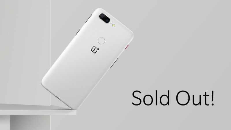OnePlus 5T Sandstone White Variant Sold Out, Removed From Website Within Two Hours of Launch