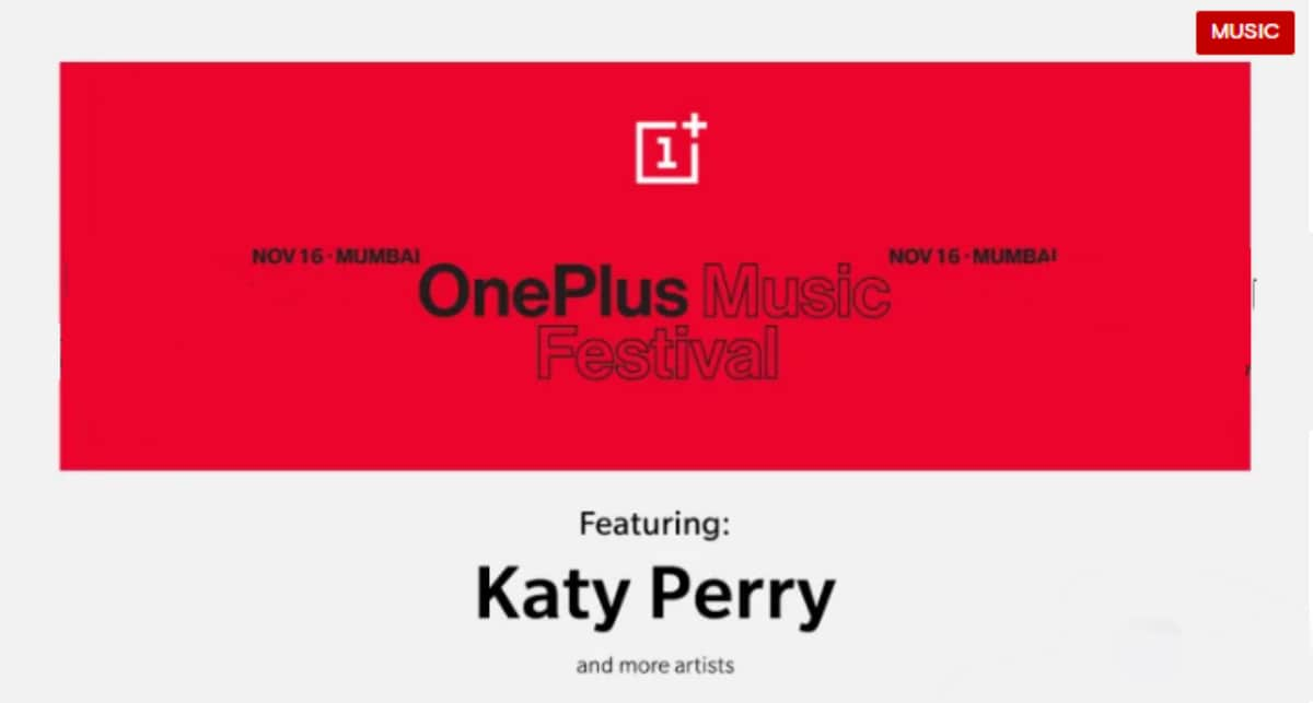 OnePlus Music Festival Set for November 16 in India, Katy Perry to Headline the Event