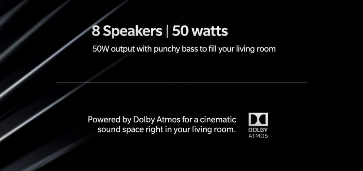 OnePlus TV Will Sport 8 Speakers With 50W Output Combined, Dolby Atmos Support