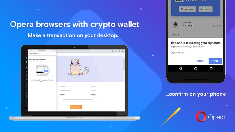 Opera Desktop Browser With CryptoWallet Integration Now Rolling Out; Opera Touch for Android Updates With Dark Theme
