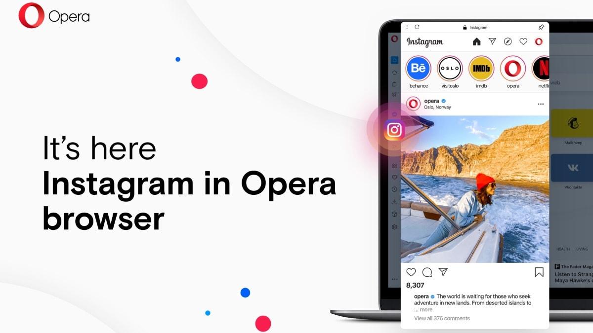 Opera for Desktop Gets Instagram Integration as a Part of Version 68