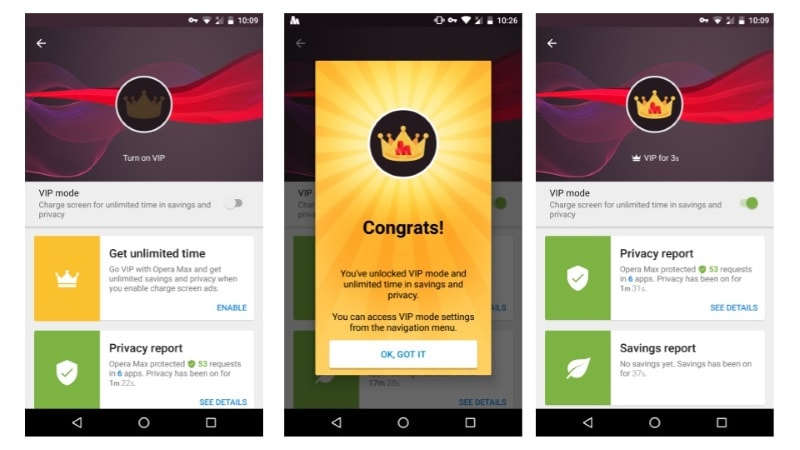 Opera Max VIP Mode Offers Unlimited VPN Access With Lock Screen Ads