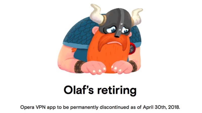 Opera Free VPN Discontinued, Opera Gold Users Offered 1-Year