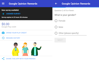 Google Opinion Rewards Android App Now Available in India, Awards Google Play Credits
