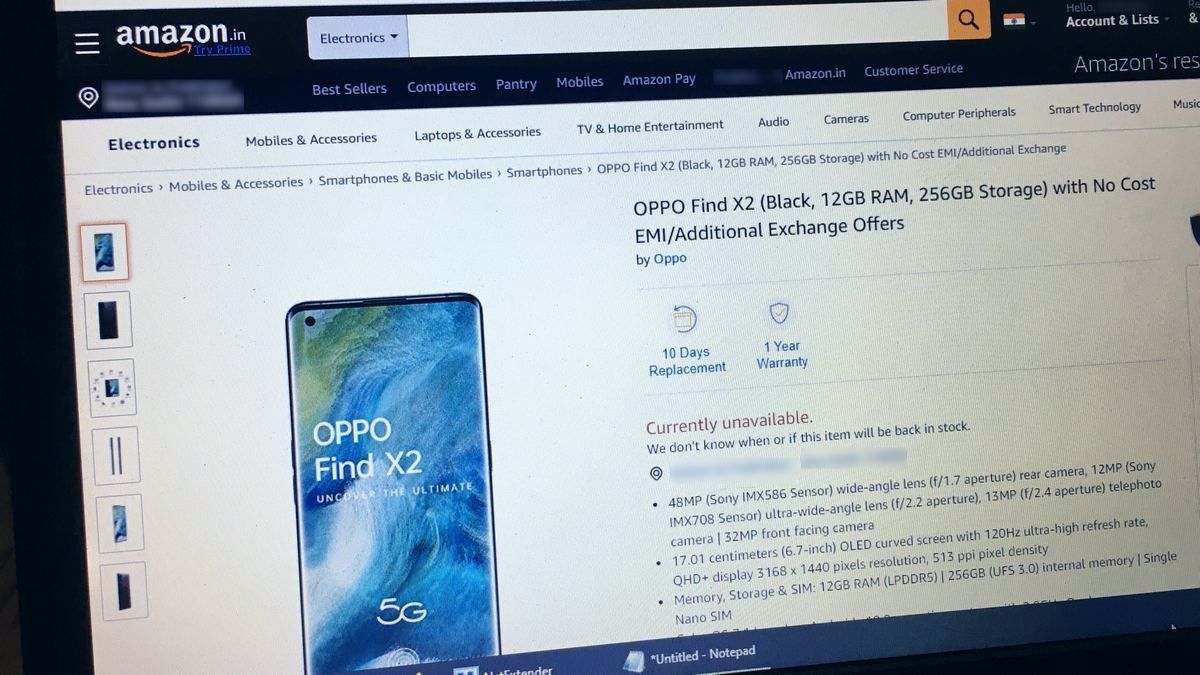 Oppo Find X2 Price in India Tipped via Amazon India Listing Ahead of Launch