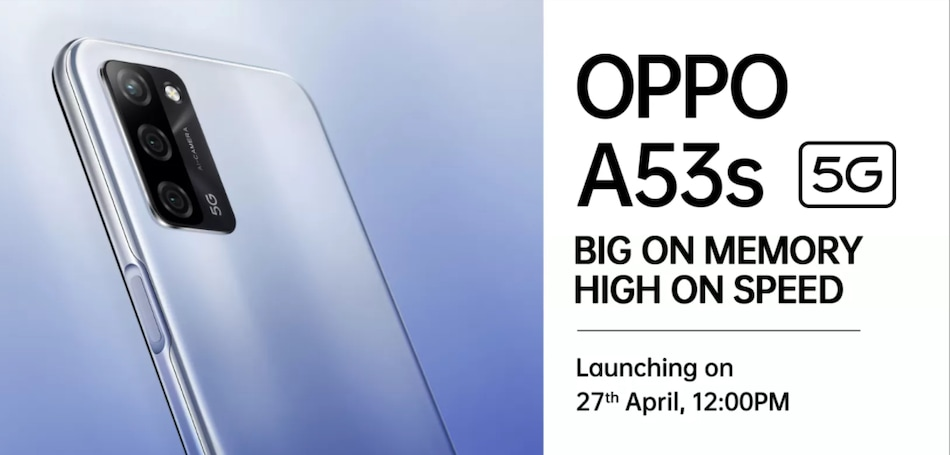 Oppo A53s 5G Set to Launch in India Today, to Go on Sale via Flipkart: Price, Specifications