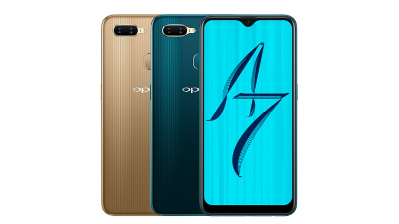 Oppo A7 With 19:9 Waterdrop Display, Dual Rear Camera Setup Launched in India: Price, Specifications