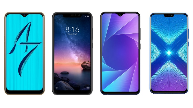 Oppo A7 vs Redmi Note 6 Pro vs Vivo Y95 vs Honor 8X