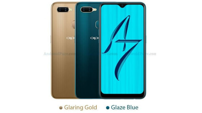 Oppo A7 Leaked Renders Tip Waterdrop Display Notch, Colour Options, and 4,230mAh Battery