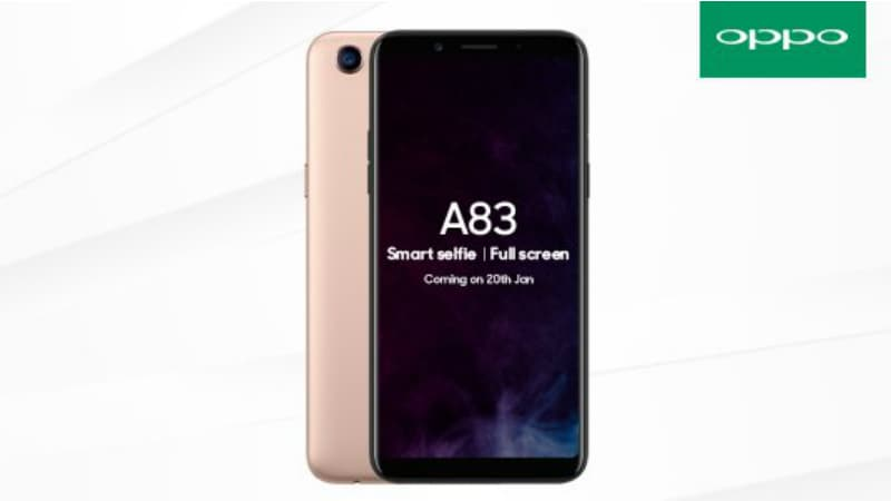 Oppo A83 With 3GB of RAM Launching in India on Saturday, Price Will