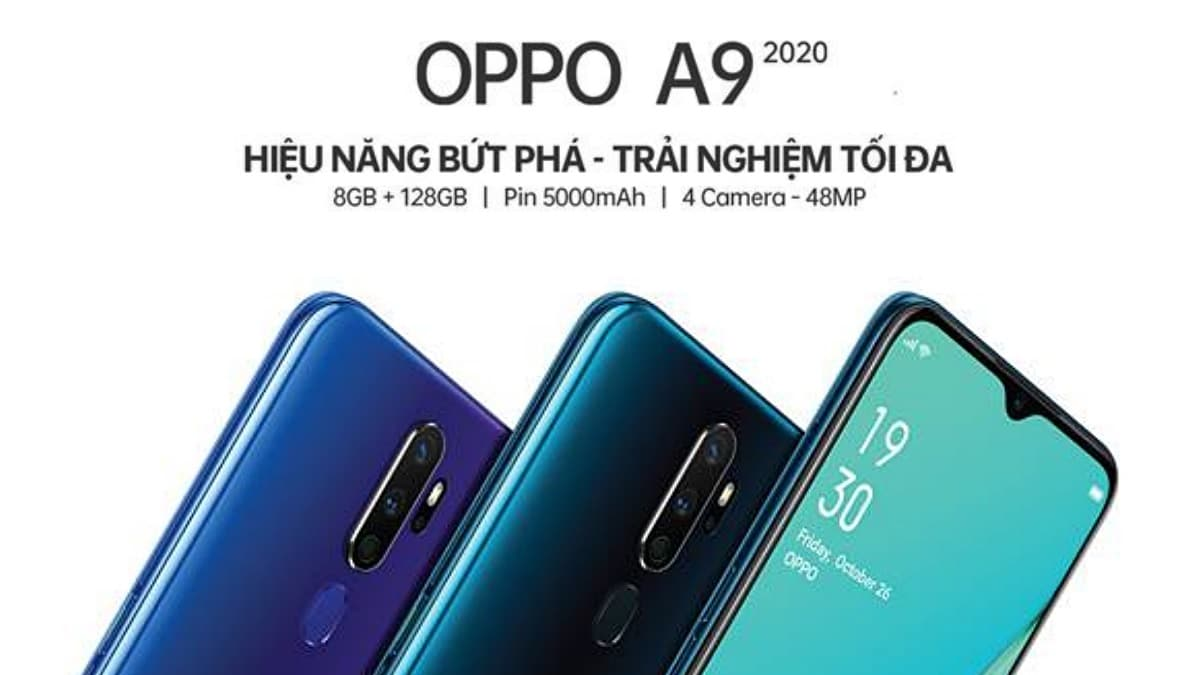 Poster promosi Oppo A9 2020.