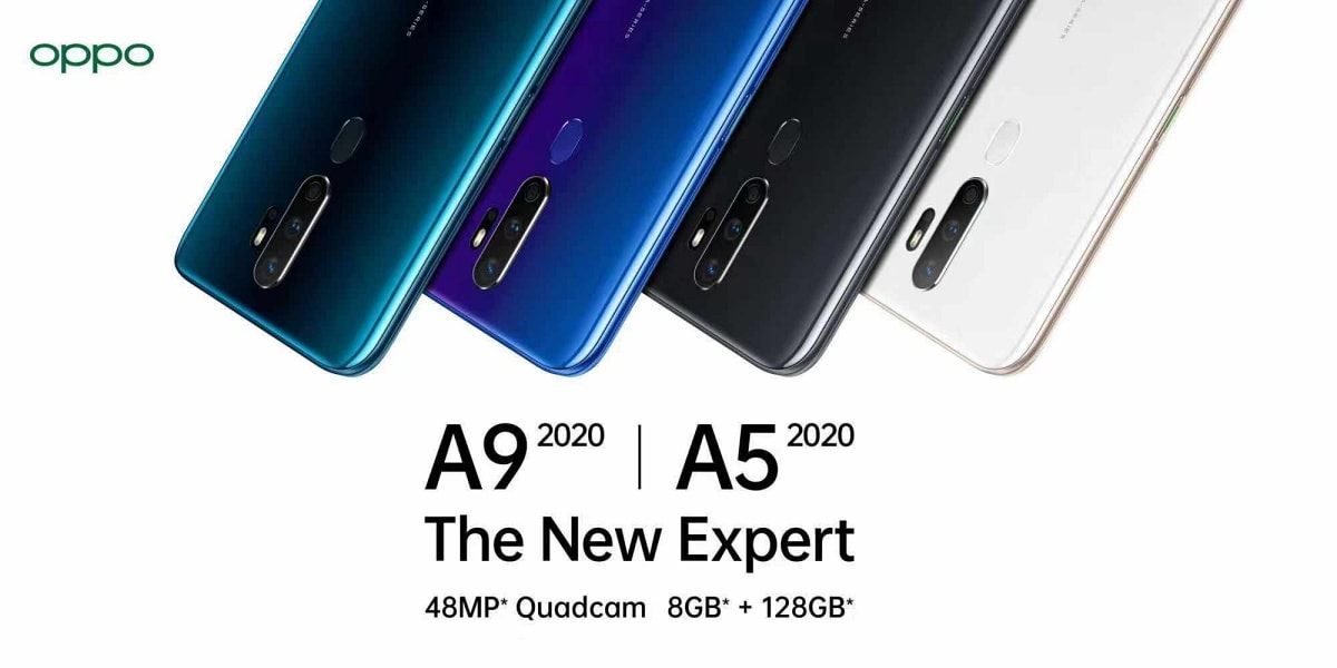 Oppo A9 2020 Oppo A5 2020 With Quad Rear Cameras 5000mah