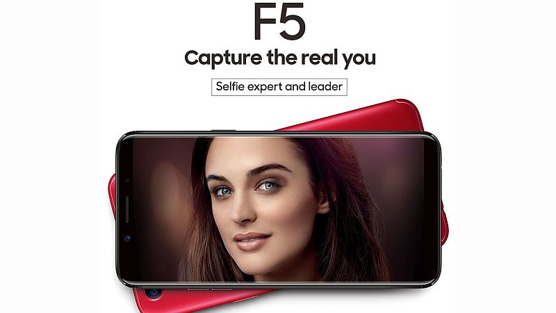 Oppo F5 Design Shown Off Alongside AI-Powered Selfie and Bezel-Less Display