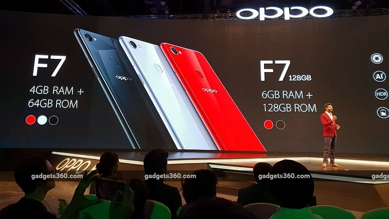 Oppo F7 With 25-Megapixel Selfie Camera Launched in India; Price Starts at Rs. 21,990