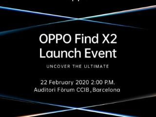 Oppo Find X2 Launch Set for February 22 in Barcelona Ahead of MWC 2020