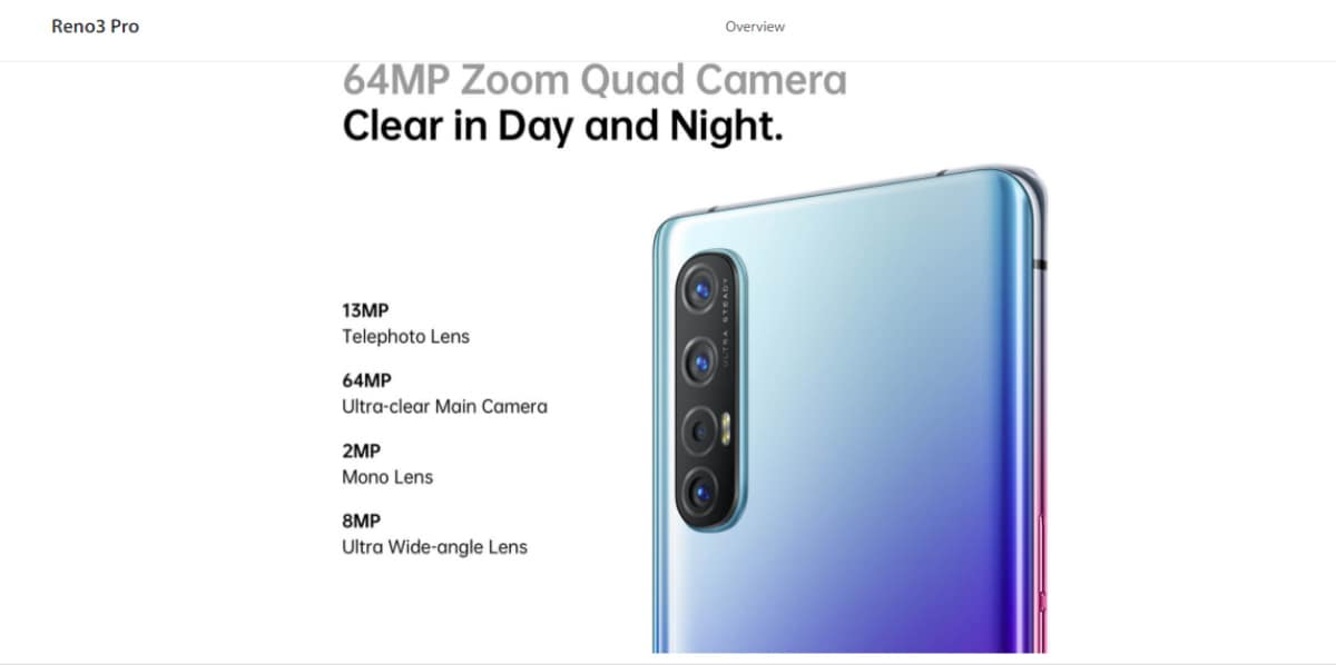 Oppo Reno 3 Pro 64-Megapixel Quad Camera Setup, Colour Options Revealed Ahead of India Launch Next Week