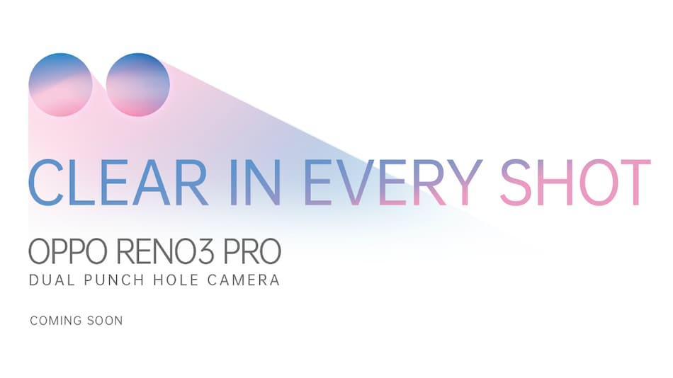 Oppo Reno 3 Pro With Dual Hole-Punch Selfie Camera Teased on Amazon, Flipkart Ahead of India Launch