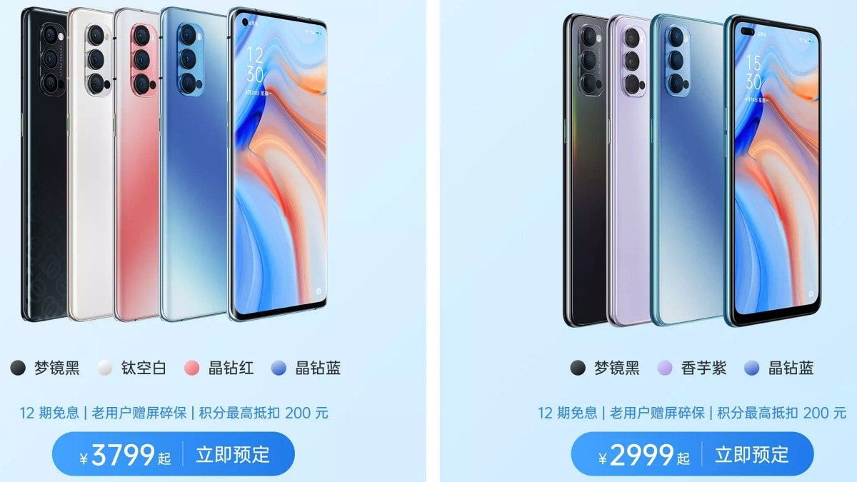 Oppo Reno 4 Series to Launch in India With Localised Features ...