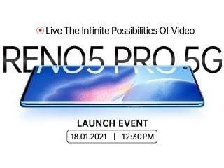 Oppo Reno 5 Pro 5G, Enco X आज भारत में होंगे लॉन्च, मोबाइल पर इवेंट को ऐसे देखें लाइव