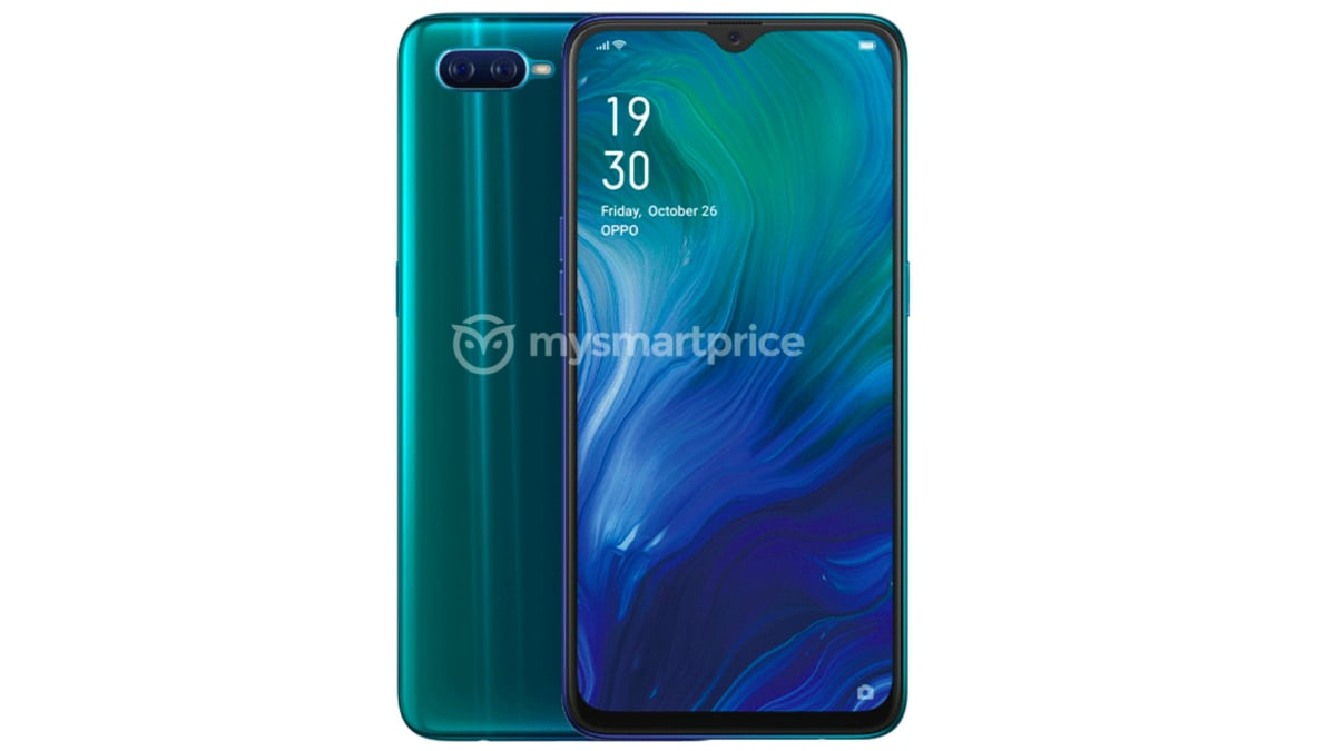 Oppo Reno A Specifications Surface, Leaked Render Suggests Waterdrop-Style Display Notch