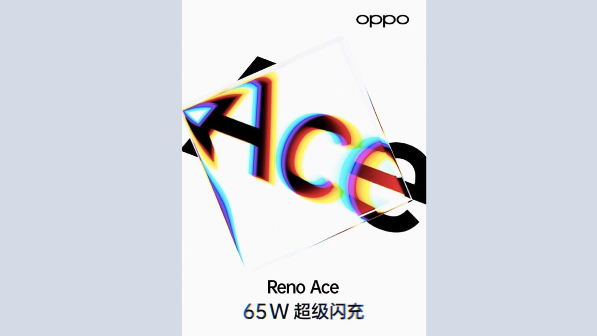 Oppo Reno Ace Launch Date Confirmed as October 10, Will Feature 65W SuperVOOC Fast Charging and 90Hz Display