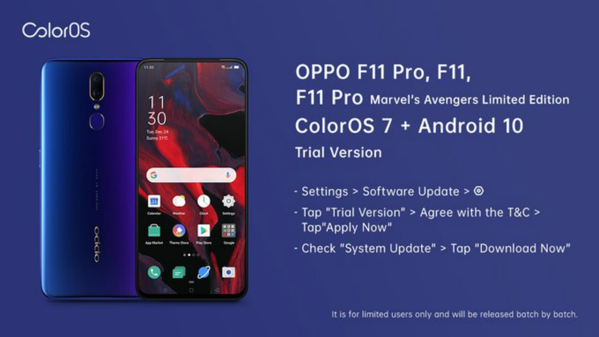 Oppo Opens Registrations for Oppo F11, Oppo F11 Pro Android 10-Based ColorOS 7 Trial Version: All Details