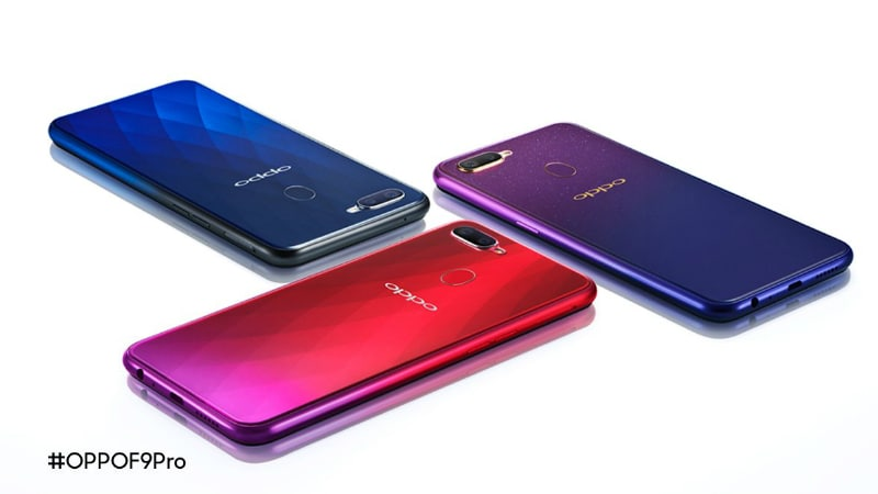 Oppo F9 Pro Colour Options, Dual Rear Cameras Teased; Oppo F9 Full Specifications Leaked