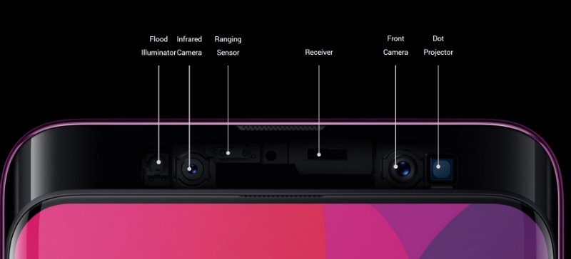oppofindx Sensors main Oppo Find X