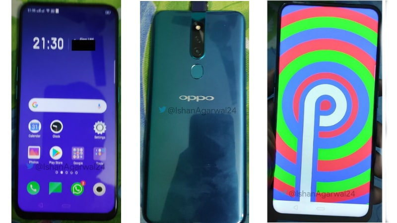 Oppo R19 or Oppo F11 Photo Leak Suggests Pop-Up Selfie Camera, Android Pie Software