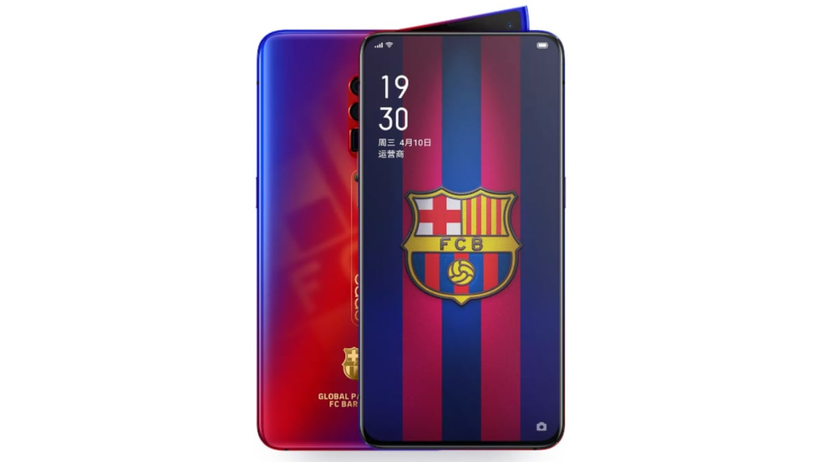 Oppo Reno 10x Zoom FC Barcelona Edition With Snapdragon 855 SoC, 8GB RAM Launched: Price, Specifications