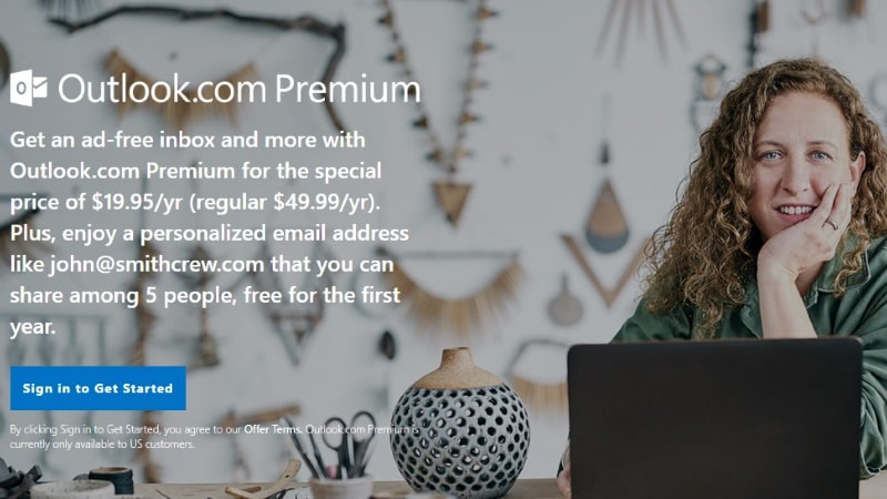 Microsoft Outlook.com's Premium Service Ditches Preview, Now Available to Users in US