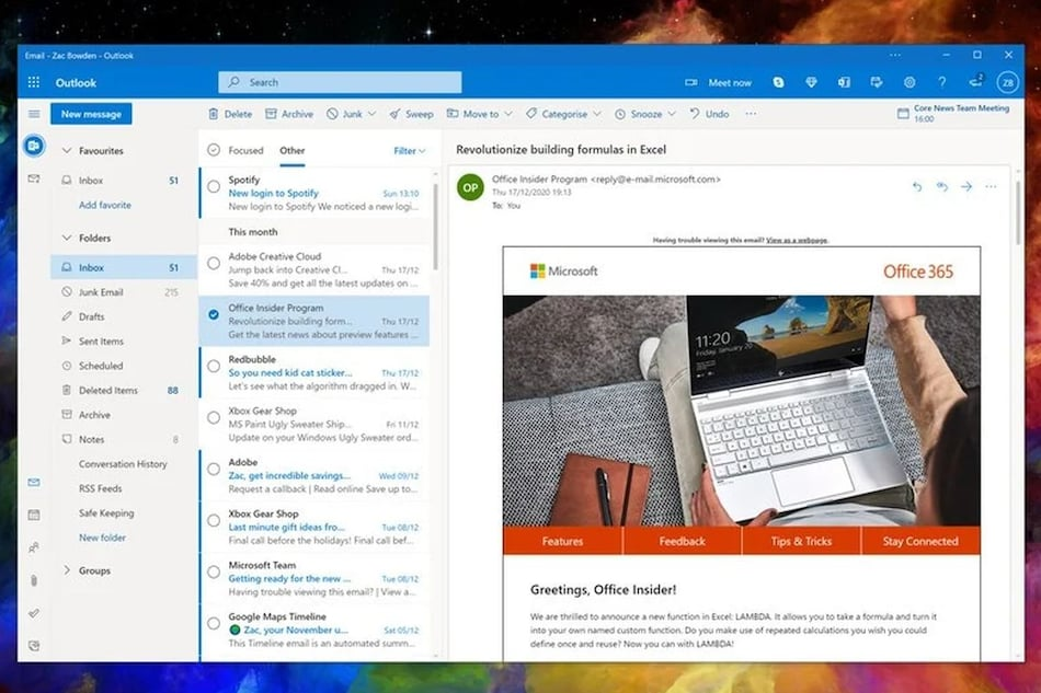 Microsoft Working on 'One Outlook' App; to Work Across Windows, Mac and Web: Report