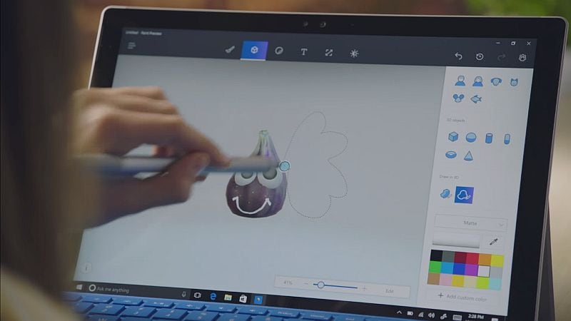 microsoft paint 3d preview app for windows 10 now available to download technology news. Black Bedroom Furniture Sets. Home Design Ideas