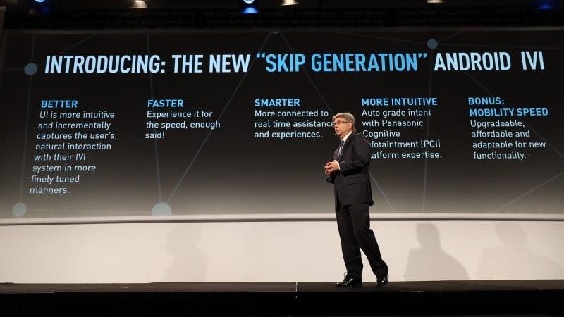 panasonic android car skip generation Panasonic Qualcomm Google Android